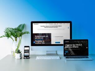 portefeuille presentation du site web vitrine com4muz